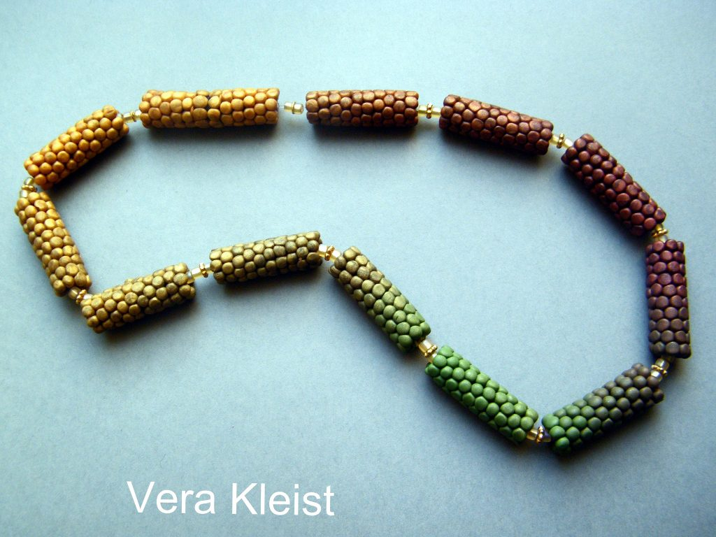Polyer clay fimo cernit beads necklace 9