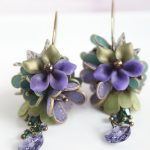 Polymer clay beautiful earrings