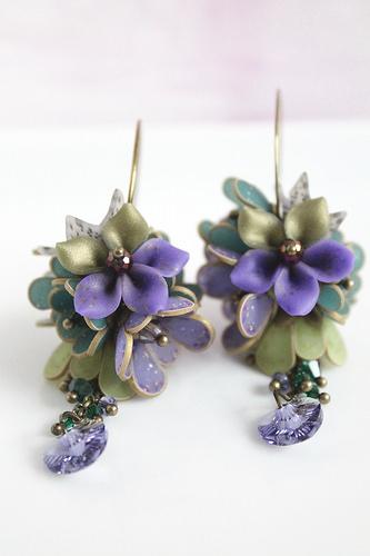 Polymer clay amazing earrings