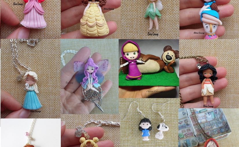 Polymer clay jewelry sets vs. types of personalities