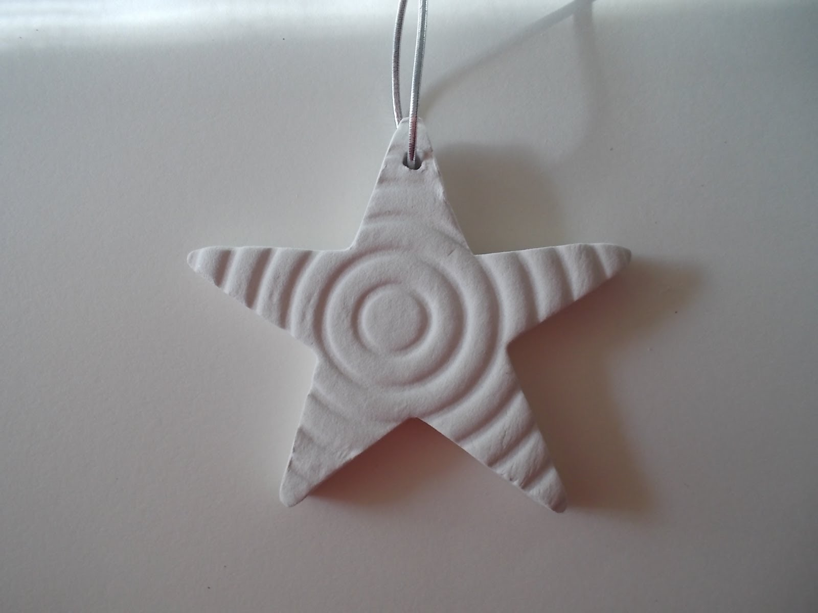Polymer clay stars - Christmas tree ornaments