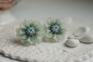 12 Polymer clay studs earrings ideas