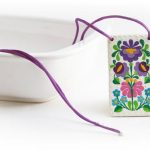 Round necklace folk pendant