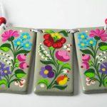 Handpainted Porcelain Necklace Hungarian Kalocsa by mintapalinta