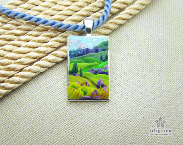 Painting with polymer clay
