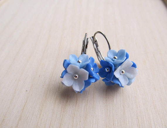 Polymer clay dangle earrings