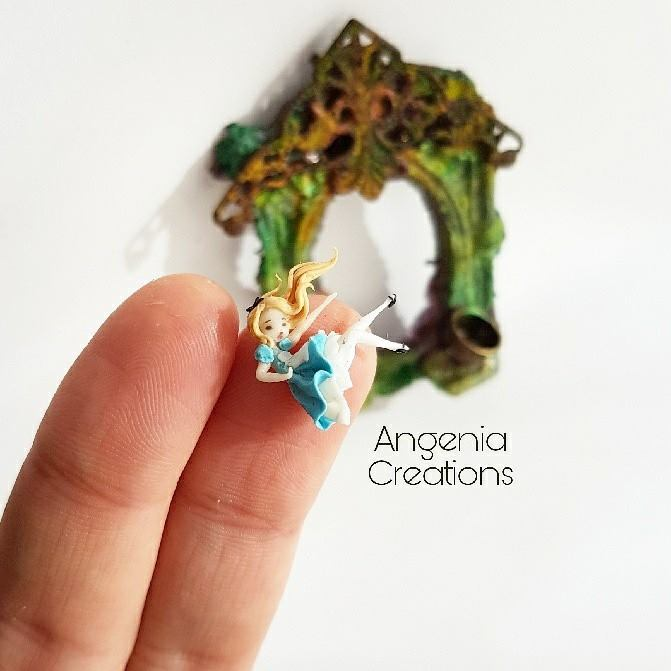 Polymer clay miniature dolls