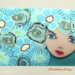 Brooch. Beautiful going out tonight. Brooch made of polymer clay. With a pretty gift bag.