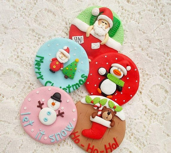 Cute polymer clay snowmen brooch ideas