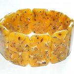 Faux amber polymer clay bracelet – DIY tutorial – handmade bangle