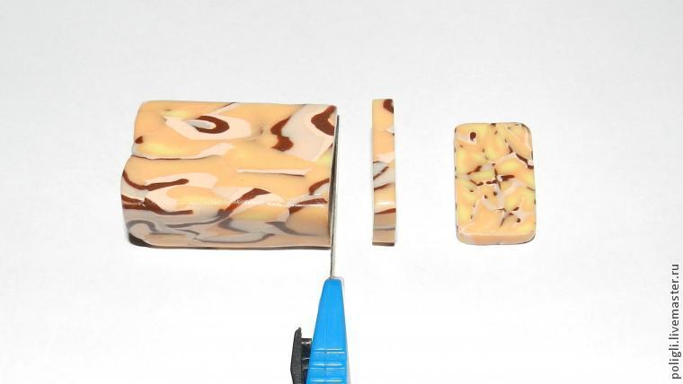 Faux amber polymer clay bracelet - DIY tutorial - step 10
