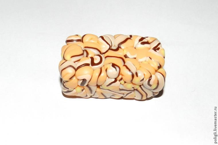 Faux amber polymer clay bracelet - DIY tutorial - step 8