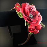 Polymer clay headbands Flowers Headband, Flower crown headband, Blue Flower Crown, Headband Flower, Floral hairpiece, Boho headpiece, Ethnic style headband