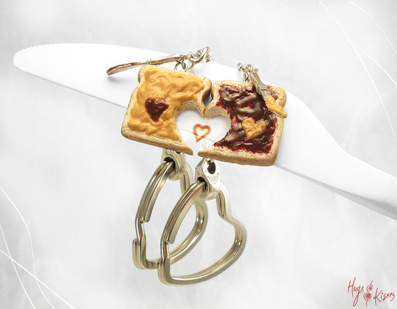 Polymer clay miniature food friendship set of 2