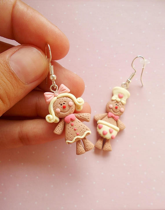polymer clay christmas jewelry collection