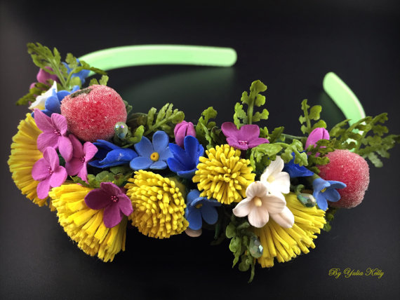 Polymer clay headbands