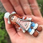 Polymer clay brooch - rabbit - Women's jewelry - gift for her - Jewelry - Brooch pin - gift ideas - best gift