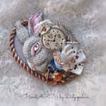 Jewelry - Polymer clay brooch - Funny girl - Winter jewelry - Christmas - Autumn gifts - gift for her - kids fashion - best gift - Pin