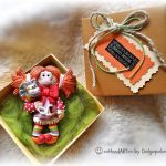 Christmas Sheep - Handmade brooch - Winter jewelry - Magic jewelry - Best gift