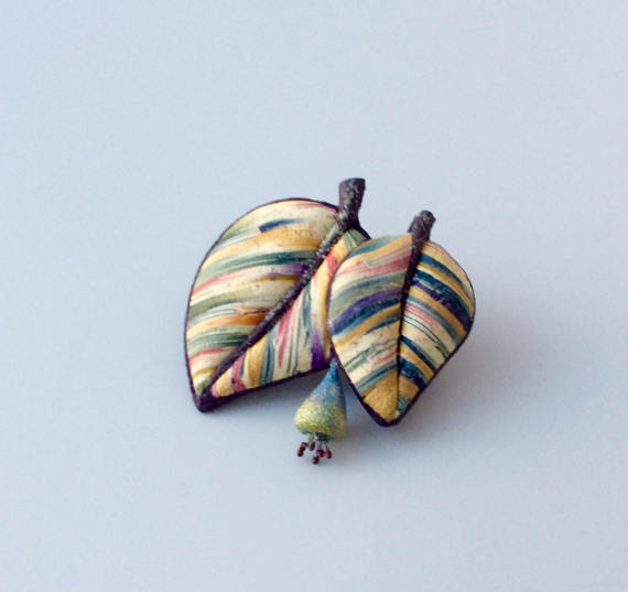 5 Polymer clay brooches ideas to copy or to buy