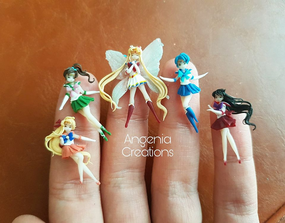 Polymer clay miniature dolls
