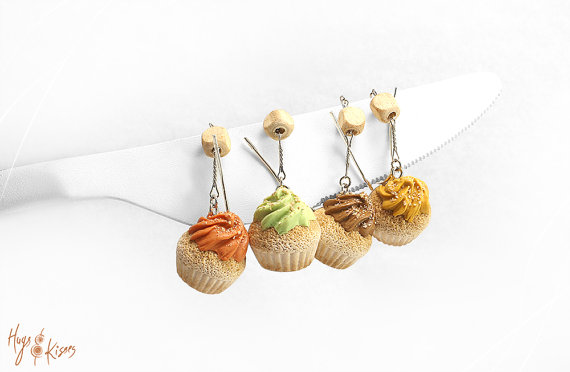 Polymer clay miniature food earrings
