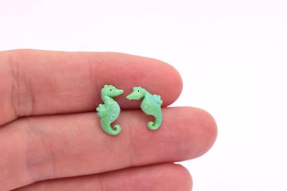 Polymer clay cute studs