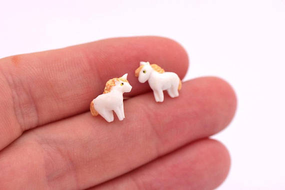 Polymer clay cute animal earrings