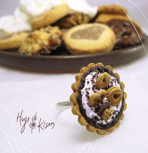 Polymer clay miniature food rings