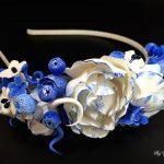 Flower headband, Poppy flowers, Red poppies, Poppy headband, Polymer clay flowers, Polymer clay Poppy, Floral headband, Wildflowers