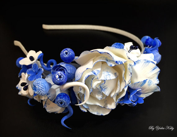 Polymer clay headbands