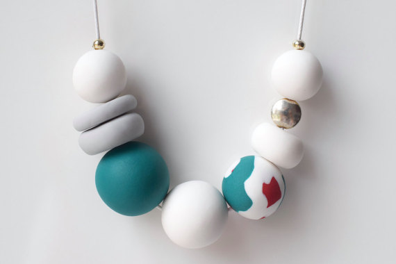 Polymer clay modern chunky necklace ideas