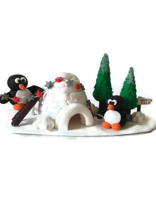 How To Make A Winter Scene On Cake