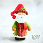 Snowman prepare gift in Christmas stocking clay figure, Snowman hold Xmas present with Christmas tree clay miniature, Christmas decoration