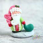 Clay Santa Claus ornament, Yellow Clay Santa Claus Christmas figure decoration, Colorful Santa Claus collection
