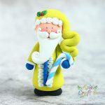 Clay Santa Claus ornament, Clay Santa Claus Christmas figure decoration