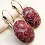 Pink flower earrings, pink romantic earrings, polymer clay design, Love gift, flower earring, Pink roses, gift, gift for Easter,