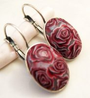 Polymer clay canes earrings