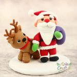 Mr Santa Claus and Mrs Santa Claus clay miniature Christmas decoration- Xmas present clay figures