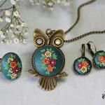 Handmade polymer clay jewelry sets (13)