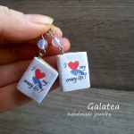 Mini Book earrings Book Lovers Gift for Reader Tiny book jewelry Miniature book White book geek Charms Librarian jewelry Book lover earrings