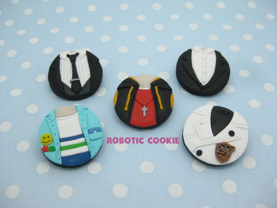 Cute polymer clay brooches
