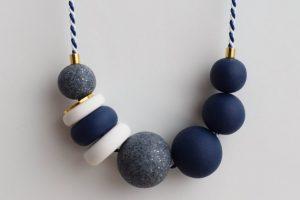 Polymer clay modern chunky necklace ideas