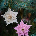Pink Poinsettia Ornament