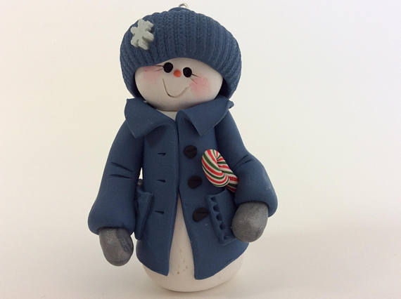Great selection of polymer clay snowman winter decorations