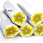 Polymer cane Yellow Lily Flower