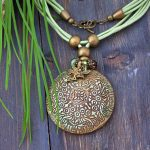 Polymer clay antique pendant (6)