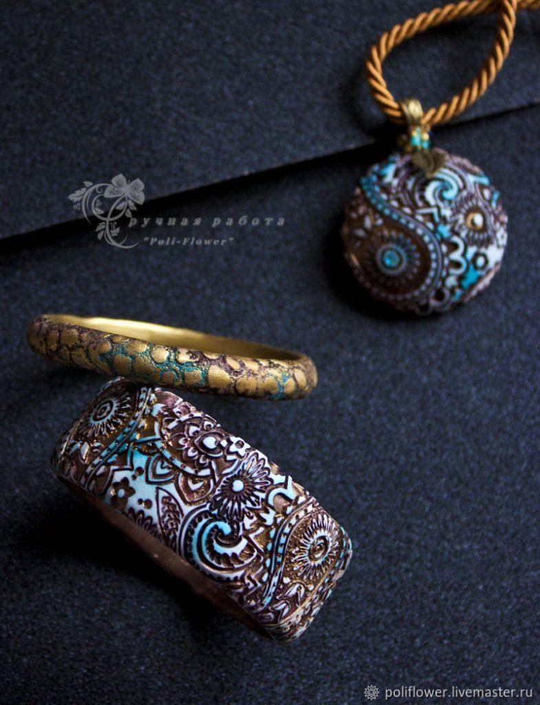 Polymer clay assorted bracelets