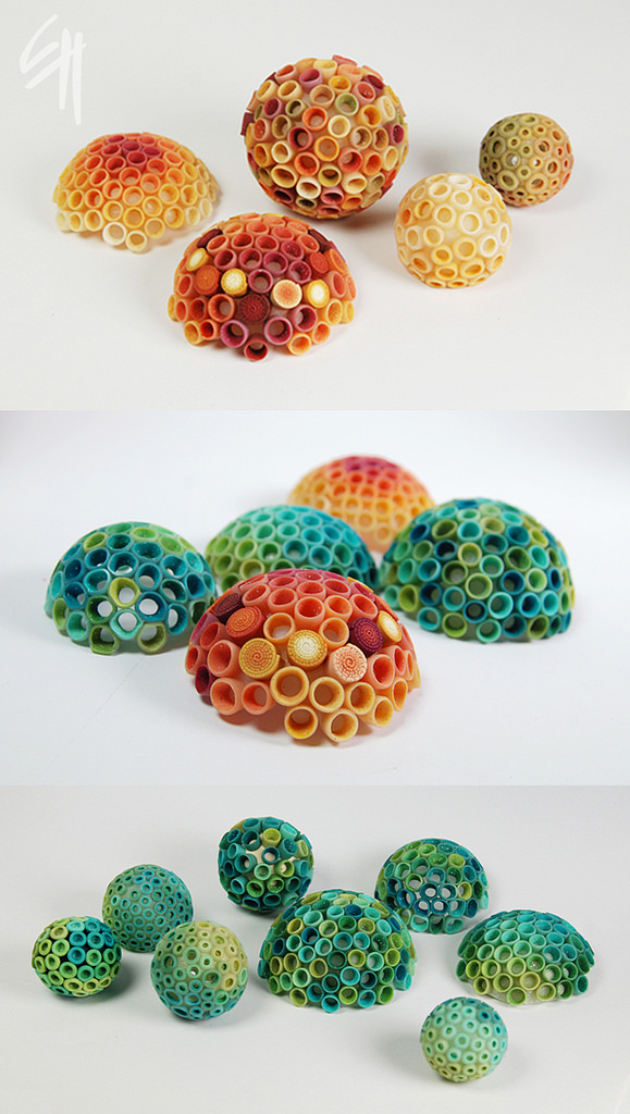 Polymer clay bubbles jewelry