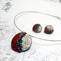 Polymer clay crackle jewelry ideas